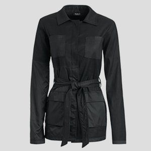 NWT Worth - Black Washed Twill Belted Jacket